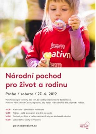 Pochod pro život a rodinu 2019